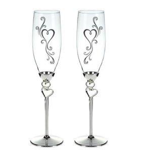 Гравировка на свадебных бокалах в москве