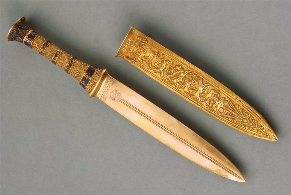 Золочение клинков, ножей, мечей