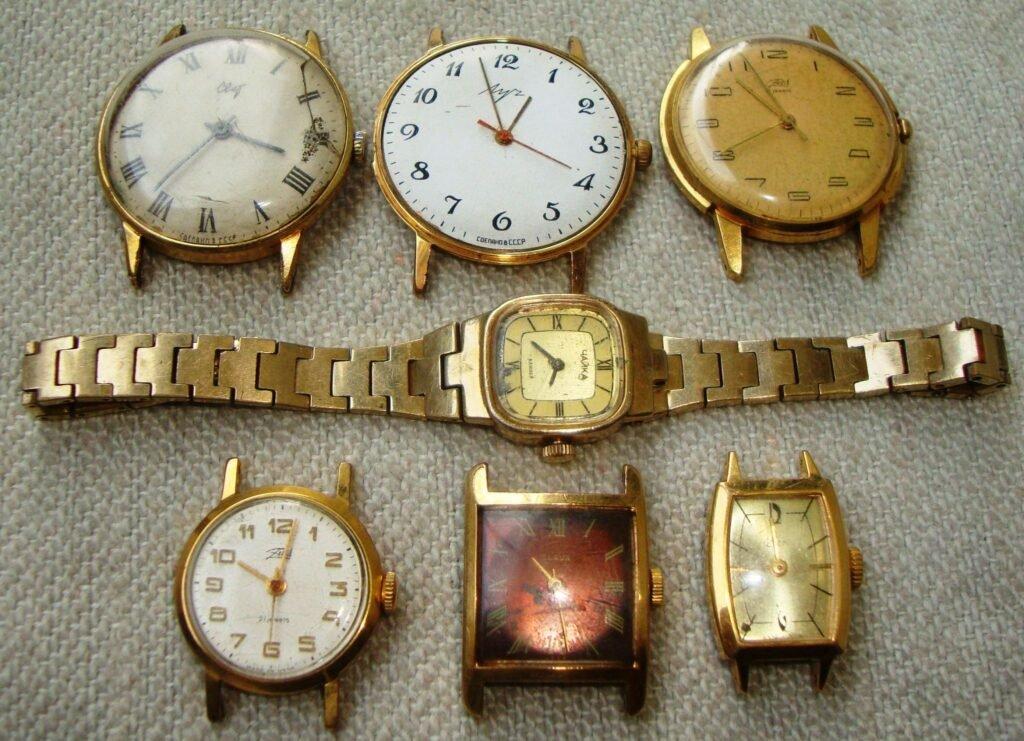 Золочение часов в Москве