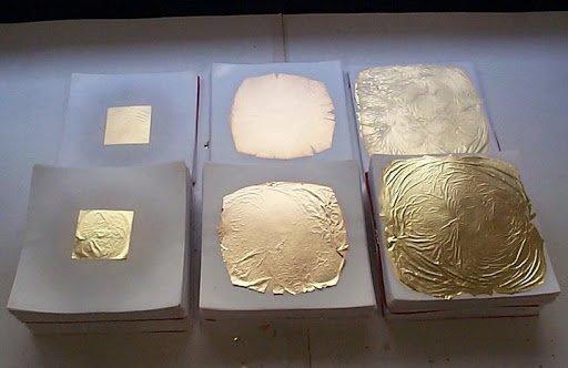 Нанесение сусального золота на изделия